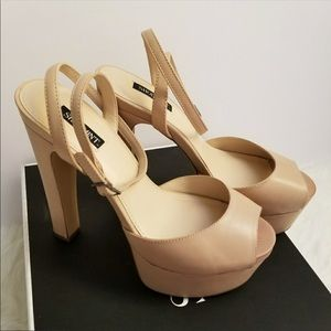 "New - Shoemint ""Bianca"" platform Sandals"